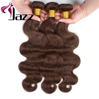 "Peruvian Body Wave Hair Extensions ""8-30"" inch 100% Human Hair Weave Bundles Chocolate Brown Color Remy Hair"
