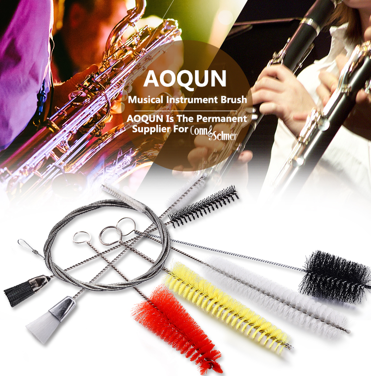Musical Nylon Trumpet / Cornet Snake Cleaning Brush