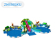 Kids mini small inflatable water park Water leisure slide inflatable water theme parks