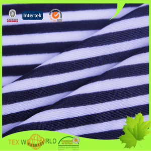 classic black and white striped custom printed kids swimwear fabric
