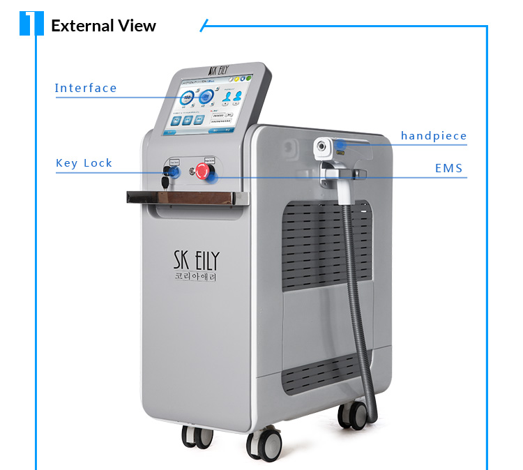 Germany original rod 1064nm 532nm tattoo removal nd yag laser machine