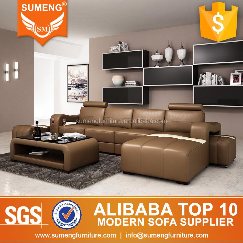 2016 latest modern sofa design living room l shape leather sofa