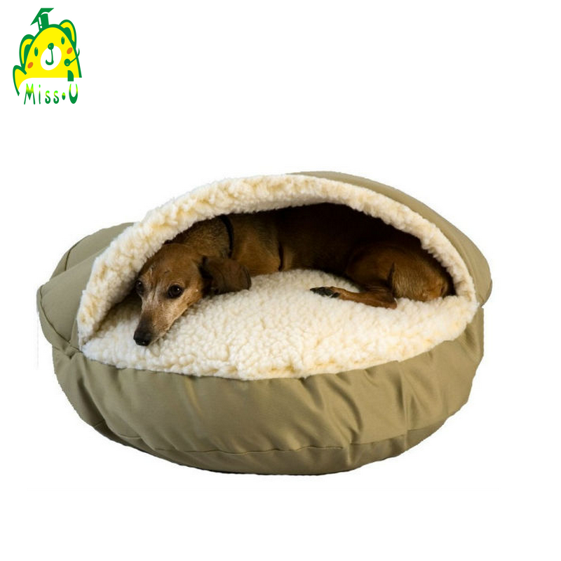 sherpa-lined Removable cover CAVE dog & pet BED