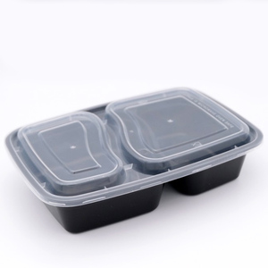 Microwave Disposable Plastic Take Away Lunch Box with Lid