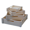Antique unfinished used wooden fruit crates for sale