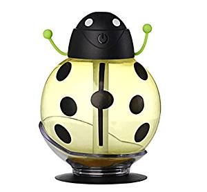 Beatles Design USB Car Air Humidifier Soft PET Cute Diffuser Mini Portable Cute Diffuser Toy for Kids LED Light Bedroom Office Diffuser Auto Shut-off with Sucking Disc 260 ml