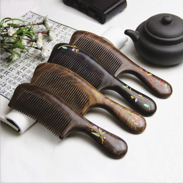 Keep-fit Massage Natural Ebony Comb