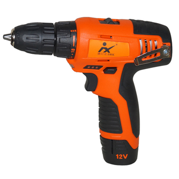 Good power tool selling 12V electric cordless drill for two li-ion batteries