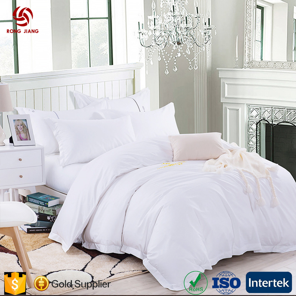 Five star hotel linen Satin Embroidery factory direct bedding sets