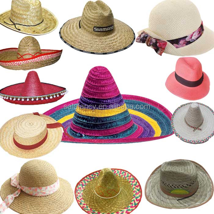 Custom Made Sombrero Hats Mexico Straw Sombrero Cowboy Hat Qhat-0266 ... 73700ae7168