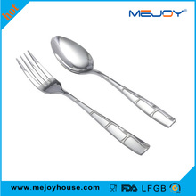 High quality serving fork and spoon stainless steel serving fork large