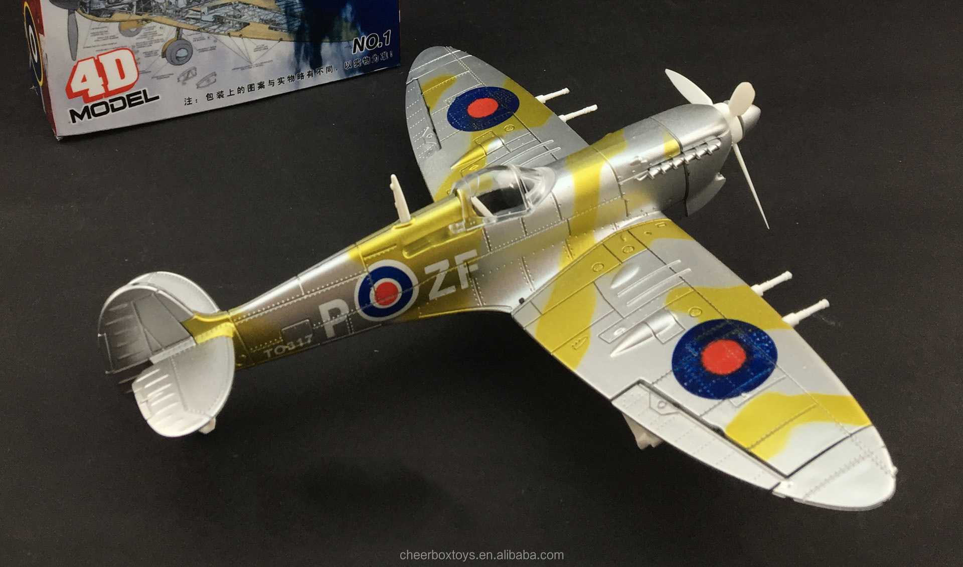 Aircraft Model Spitfire fighter 1:48 assembly toys Military Model Kit
