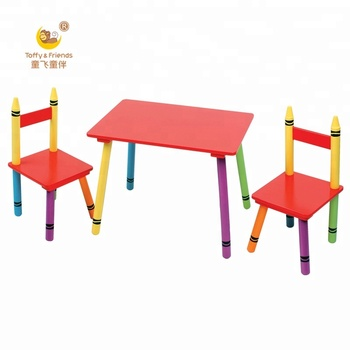 Awesome Toffy Friends Kids Wooden Easily Assemble Crayon Legs Table And Chairs Set View Kid Wooden Table Chairs Toffy Friends Product Details From Ocoug Best Dining Table And Chair Ideas Images Ocougorg