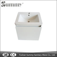Cheap white Sink Basin Cabinet Customized Solid Wood Bathroom Vanity