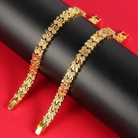 Fashion new Imitation jewelry women 24K gold plated copper alloy jewelry bracelet