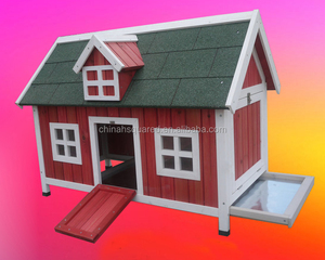 Easy Installed Best Price Durable Bamboo Wooden Chicken Coop with Feeder Window