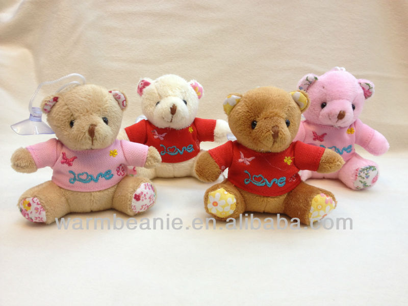 T-shirt Customized Lover care clothing bear plush toys keychain
