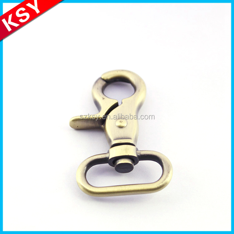 Key Ring Swivel Carabiner Hook Metal Alloy Handbag Black Snap Hook