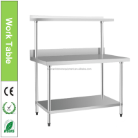 Stainless Steel Work Table With 550mm Top Shelf For Hospital