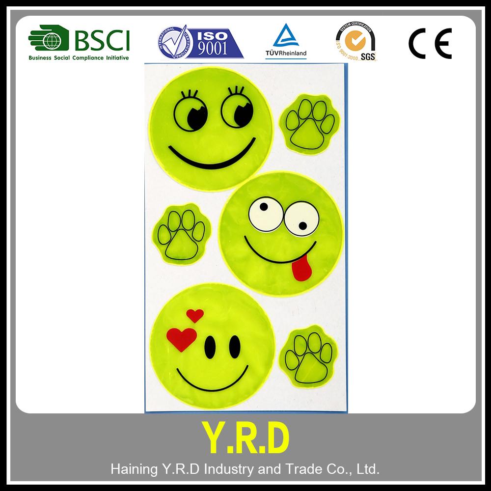 Custom printing reflex sticker reflective emoji sticker