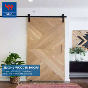 Hanging sliding solid hardwood internal barn door side panel hanging sliding doors design