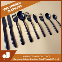 9pcs whole full flatware set, black stainless steel cutlery sets