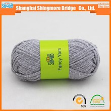 chinese fancy yarn supplier shingmore bridge hot sales oke tex quality acrylic tube yarn with metallic.