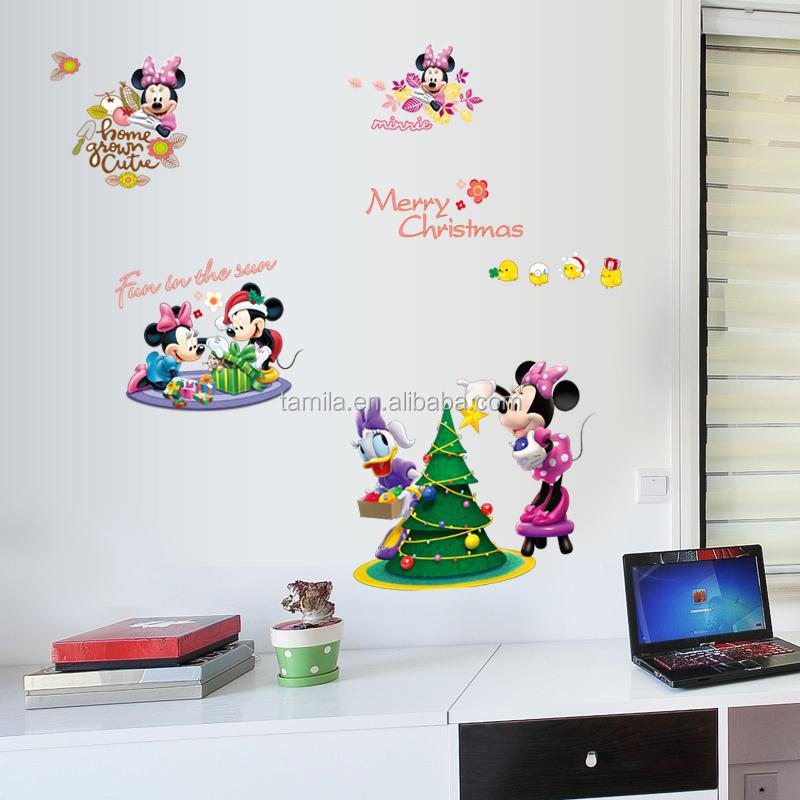 Dessin Anime Enfants Chambre Decor Mickey Mouse Autocollants Muraux