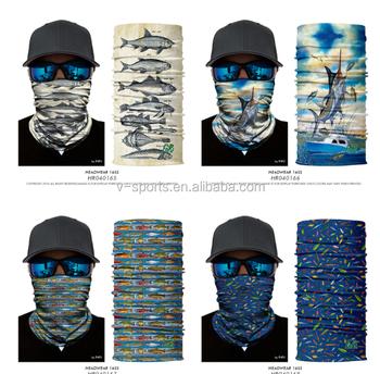 Fishing Headwear Scarf Bandana Fly Fishing Head Hair band Blue Yellow Face  Mask Outdoor Sports 7c6351248f8