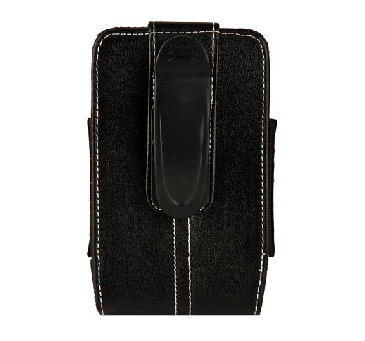 Vertical phone leather pouch with belt clip