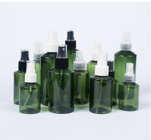 50ml 100ml 150ml 200ml dark green pet material spray bottle cosmetics package