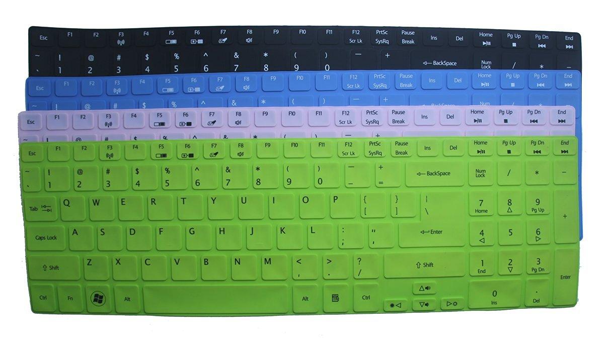 BingoBuy Semi-Blue Ultra Thin Silicone Keyboard Protector Skin Cover for Acer Aspire E1-510 E1-510P ES1-512 E5-511 E5-511P E5-521 E5-521G E1-522 E1-530 E5-531 E1-532 E1-532P E5-551 E5-551G E1-570 E5-571 E5-571G E5-571P E5-571PG E1-572 E1-572P E1-731 E1-771