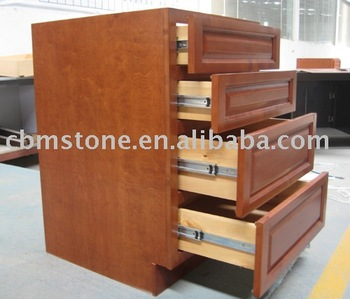 Beech solid wood kitchen cabinet drawer base from chinese for Beech wood kitchen cabinets