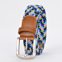beautiful lady fashion multicoloured Jeans cotton belt,elastic belts for jeans,braided elastic belt wholesale