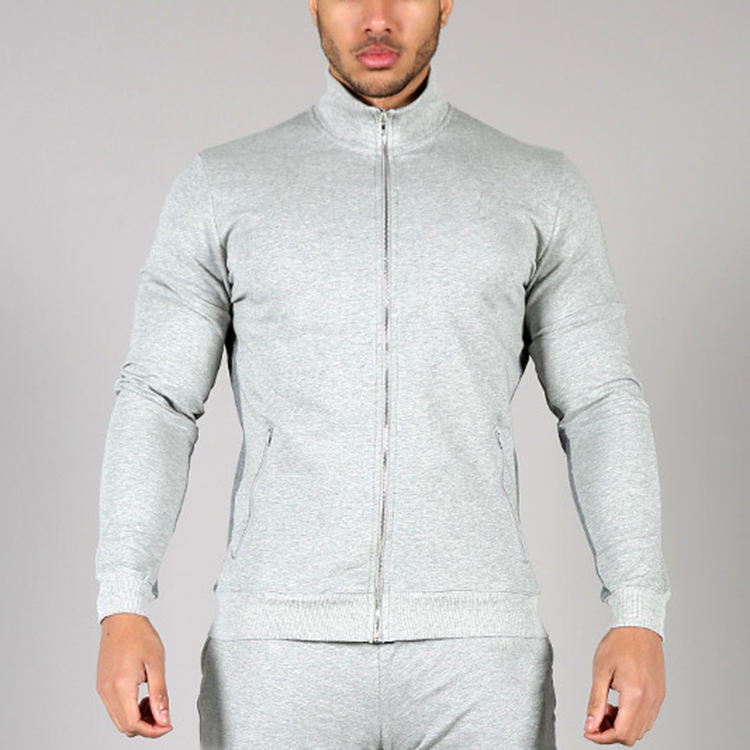 OEM autumn fashion men brand tracksuit fitted jersey elastane sports suit