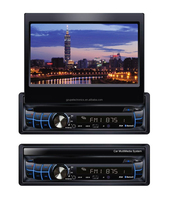 New Stylish!!!car Multimedia entertainment universal 1 din car DVD player with retractable screen