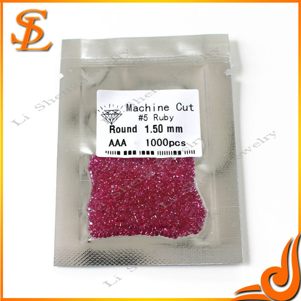 1.50mm AAA natural corundum ruby, Red gemstone price