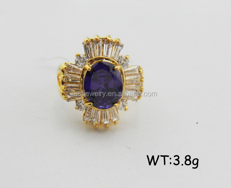 SR0776 wholesale fashion 18k gold plated jewelry cz crystal rhinestone rings