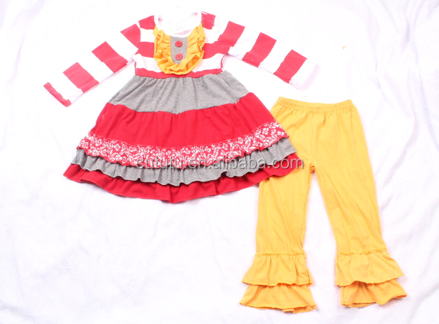 Persnickety remake outfits fall wholesale ruffled pants sets wholesale smocked christmas clothing 100% cotton ruffle pants sets