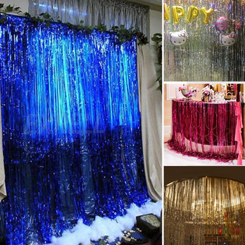 2020 Wholesale 1M*2M Metallic Foil Fringe Door Curtains
