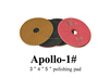 Apollo High Quality Diamond Wet / Dry Polishing Pads For Polisher