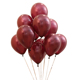 10inch 2.5g 12inch 3.5g Helium Round Balloons wine red color Thick Pearl latex Balloon for wedding Party Decoration