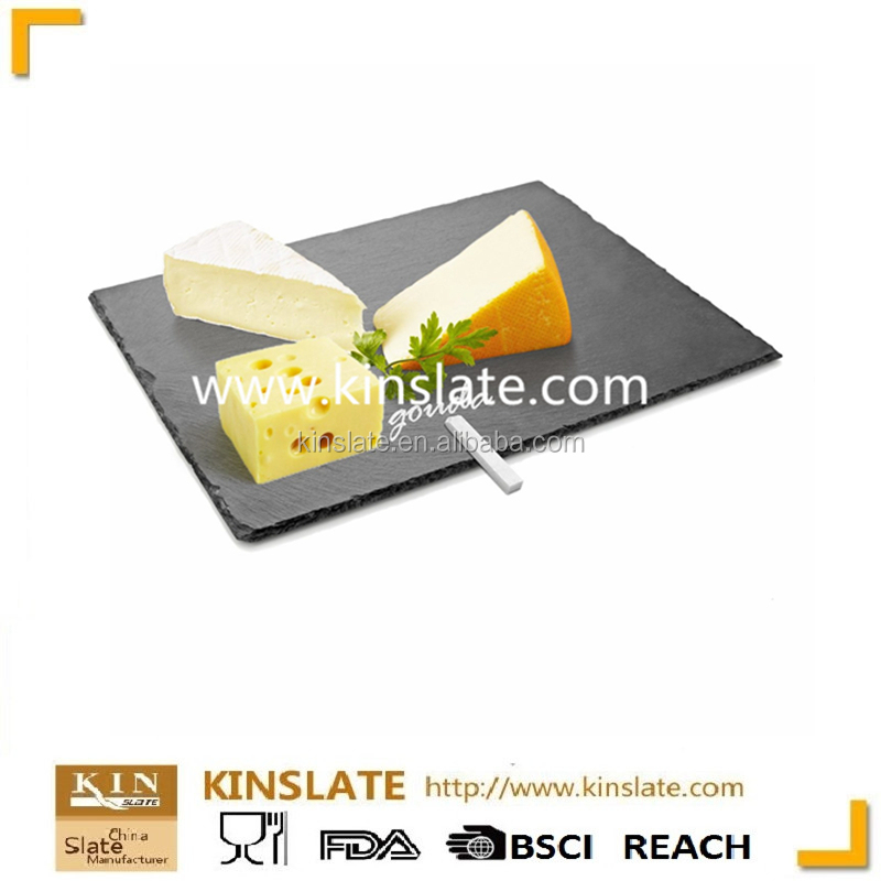 [factory direct] The hot selling eco-friendly house ware 100% natural rectangular slate plate