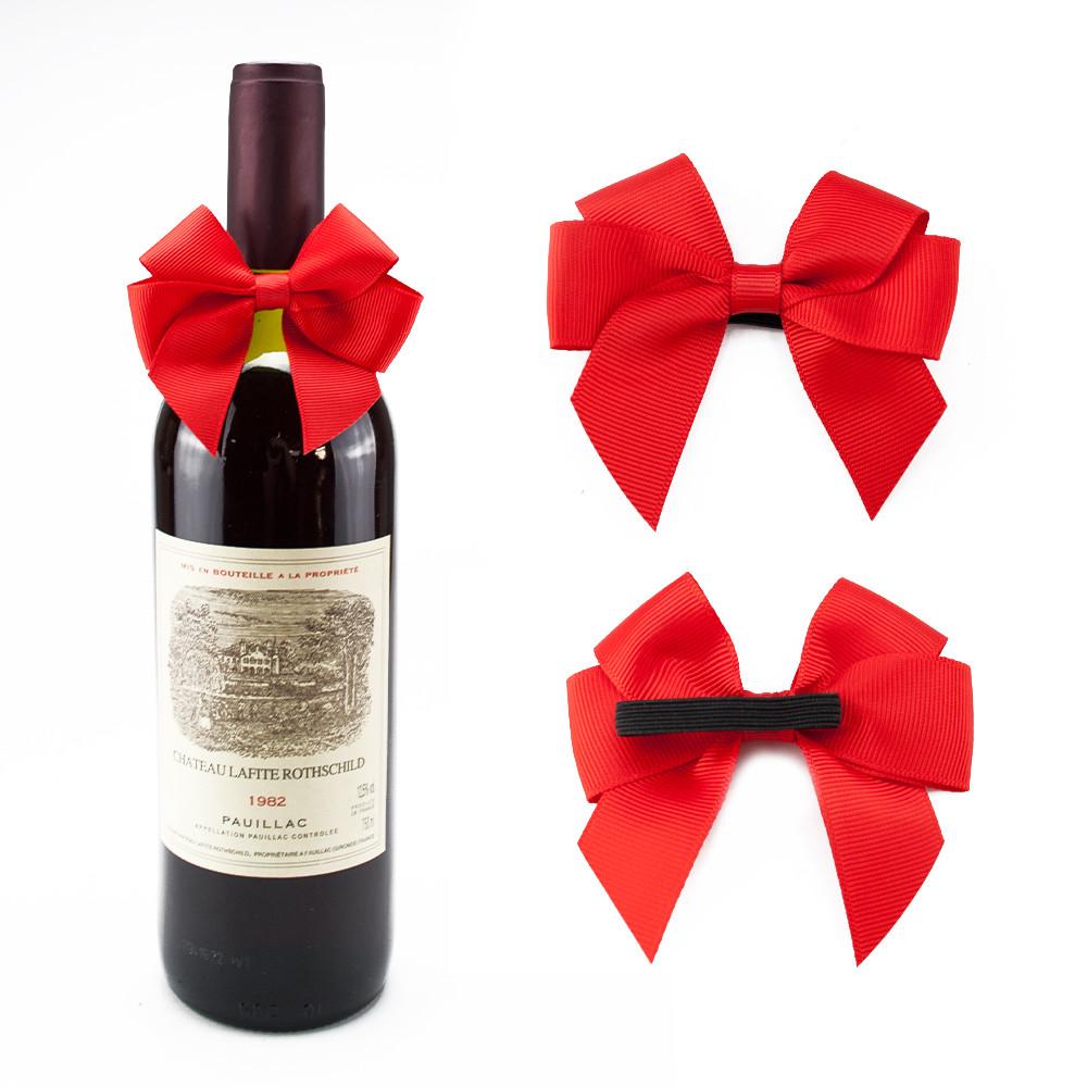 Cheap Pre-tied Mini Wine Bottle Neck Decorative Ribbon Bows / Ribbon ...