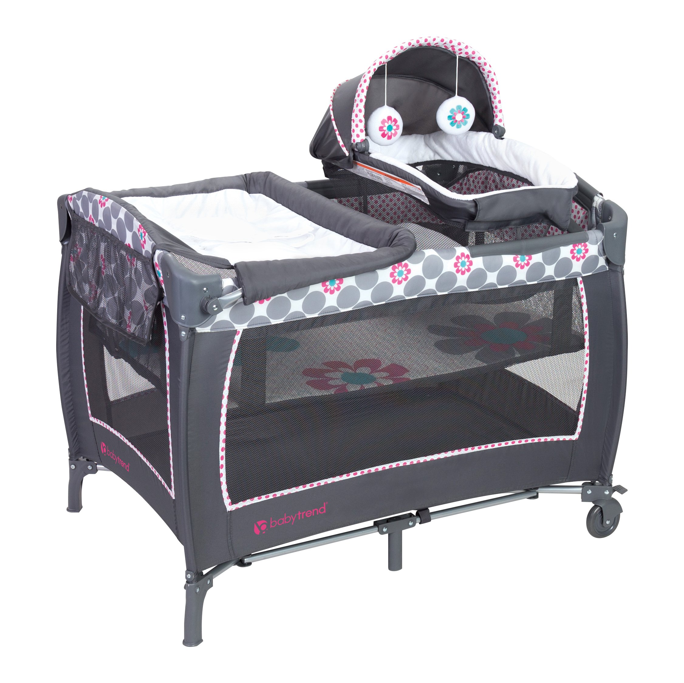 Baby Trend Lil Snooze Deluxe 2 Nursery Center, Daisy Dots