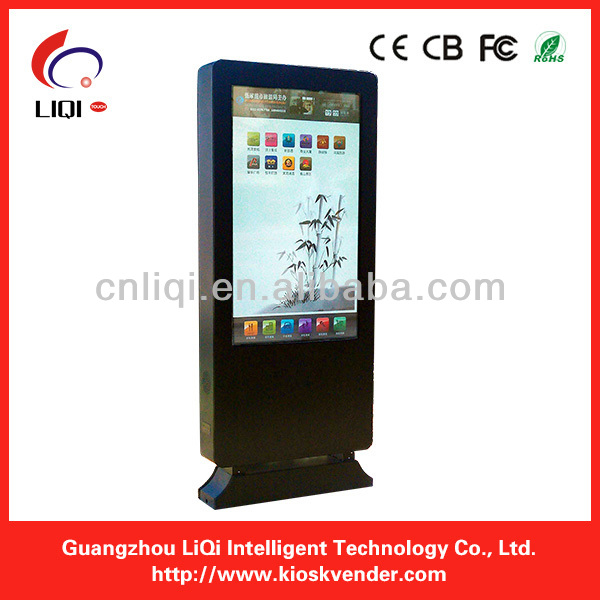 52' touch screen kiosk digital signage outdoor, cell phone charging station kiosk