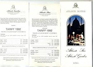 Atlante Star and Garden Hotels Brochure Rome Italy 1992