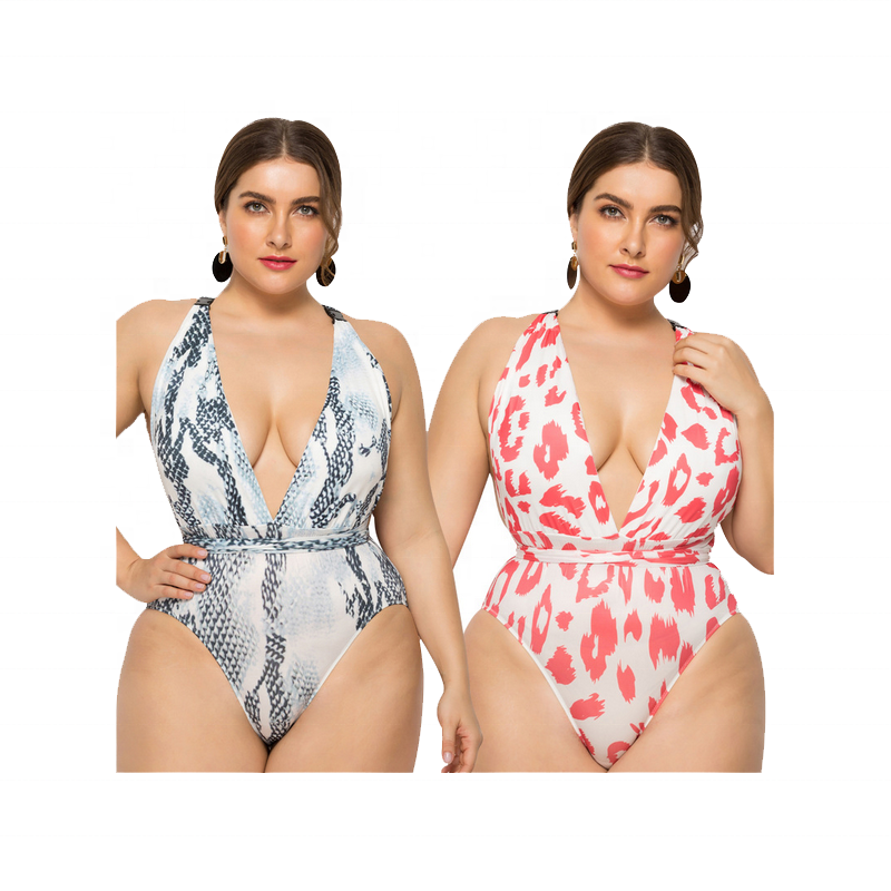 2020 V Neck <strong>Swimwear</strong> <strong>Plus</strong> <strong>Size</strong> Women Swimsuit
