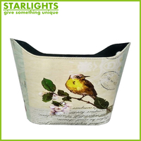 home decor leather storage basket for shopping or gift