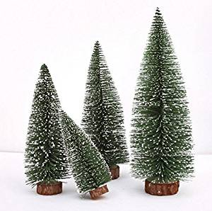 get quotations hi party pack of 4 assorted size mini sisal trees tabletop christmas tree